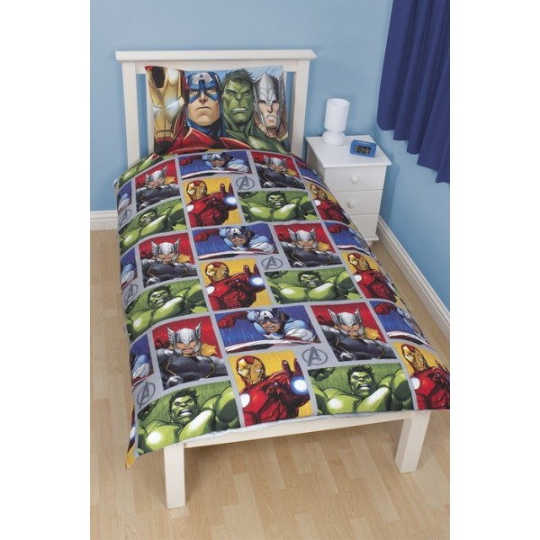 parure de lit the avengers team r versible. Black Bedroom Furniture Sets. Home Design Ideas