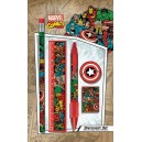 5-Piece Stationery Set Collage Retro - Marvel Comics