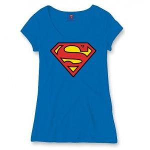 T-Shirt femme Superman bleu
