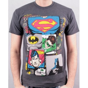 T-shirt Justice League : superhéros