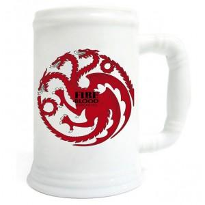 Chope Targaryen de Game Of Thrones céramique