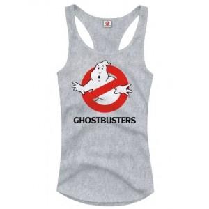 Débardeur SOS Fantômes / Ghostbusters femme logo gris