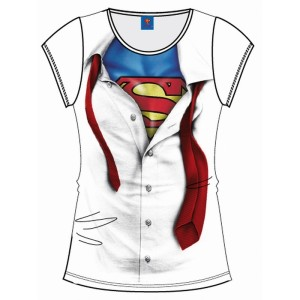 T-Shirt Superman blanc