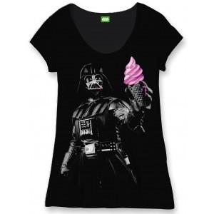 T-Shirt Dark Vador et glace femme