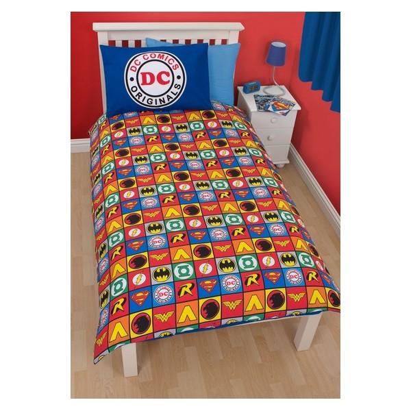 parure de lit dc comics collection 135x200cm r versible. Black Bedroom Furniture Sets. Home Design Ideas