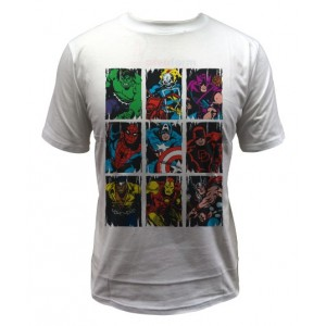 Marvel Comics T-Shirt Squares : super-héros