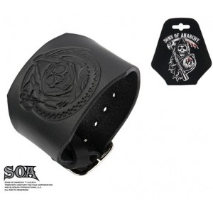 Bracelet Sons Of Anarchy en cuir Grim Reaper