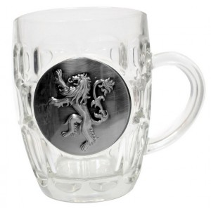 Beer Glass Lannister Metallic Logo - Game of Thrones