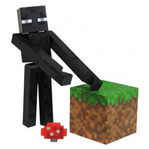 Figurine Enderman de Minecraft 8cm
