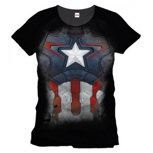 T-shirt Captain America costume / armure
