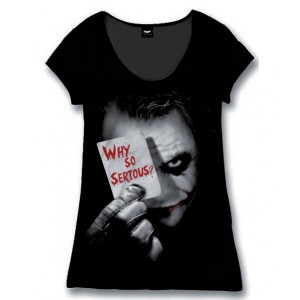 T-shirt femme Joker : Why So Serious? The Dark Knight