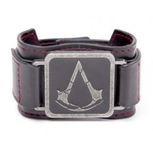 Bracelet en cuir Assassin's Creed Rogue - Metal Crest
