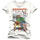 T-shirt Marvel Characters blanc