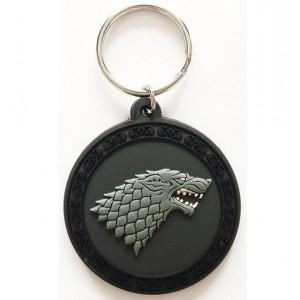 Porte-clé Stark 5cm caoutchouc Game Of Thrones