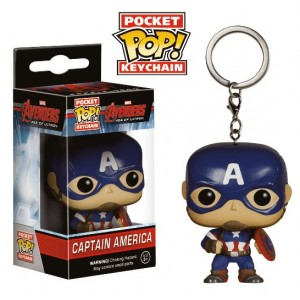 Porte-clés Captain America - Avengers 2 - version POP! Vinyl