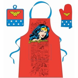 Set de cuisine visage de Wonder Woman