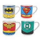 Set 4 mugs Justice League : Batman, Superman, Flash, Green Lantern