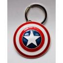 Porte-clé bouclier Captain America en métal