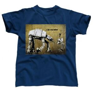 T-Shirt Banksy At-At father bleu - Star Wars