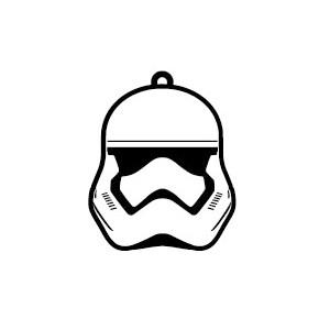 Porte-clé Stormtrooper Star Wars Episode VII 6cm caoutchouc