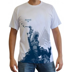 T-Shirt Assassin's Creed III, Connor à genoux