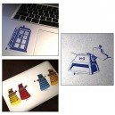 Set of 6 Doctor Who stickers
