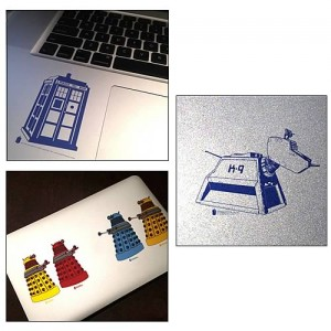 Lot de 6 autocollants Doctor Who