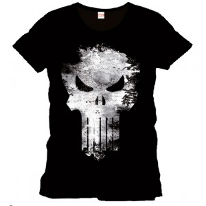 The Punisher t-shirt black : Distress Skull