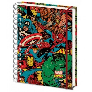 Cahier à spirale Marvel Comics A4 Collage Retro