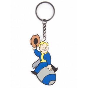Porte-clés Fallout 4 Vault Boy Bomber en caoutchouc