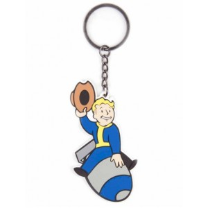 Rubber Keychain Vault Boy Bomber Fallout 4