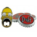 Duff Coaster Set with Homer Simpson Bottle Opener