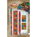 5-Piece Stationery Set Collage Retro B - Marvel Comics