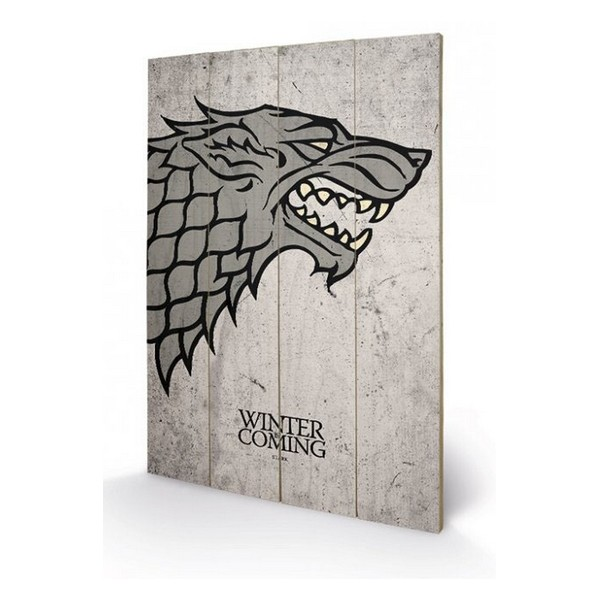 tableau en bois stark game of thrones 40x60cm - forom47