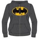 Sweat à capuche femme Batman gris