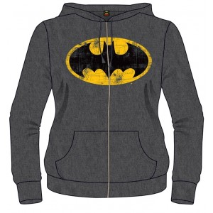 Ladies Hooded grey Batman Sweater - Logo