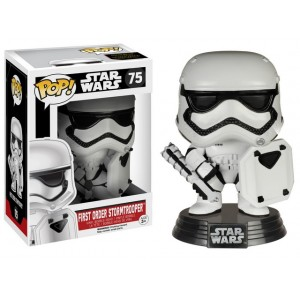 First Order Stormtrooper with shield POP! Vinyl Bobble-Head 9cm