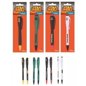 Set de 4 stylos lumineux Star Wars