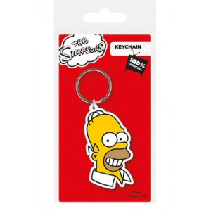 Porte-clé Homer Simpson en caoutchouc 6cm
