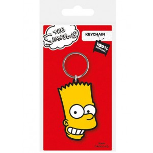 Bart Simpson Rubber Keychain 6cm
