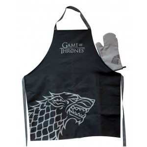 Stark kitchen set : apron and oven mitt - Game Of Thrones