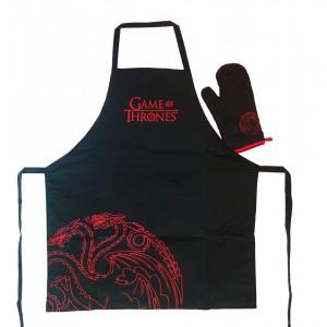 Targaryen kitchen set : apron and oven mitt - Game Of Thrones