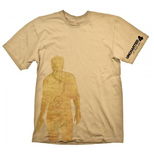 T-shirt Nathan Drake carte - Uncharted 4