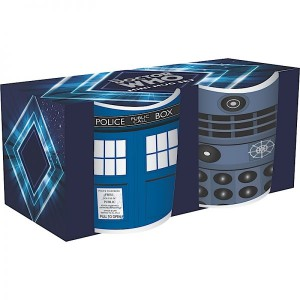 Set of 2 Doctor Who mini-mugs : Tardis & Dalek