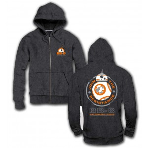 Sweater BB-8 à capuche zippé