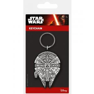 Millennium Falcon rubber keychain 6cm