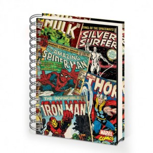 Notebook A5 Retro Outline - Marvel Comics