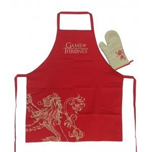 Lannister kitchen set : apron and oven mitt - Game Of Thrones