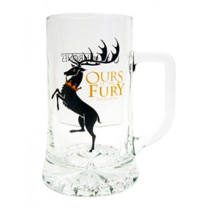 Chope Baratheon en verre - Game Of Thrones