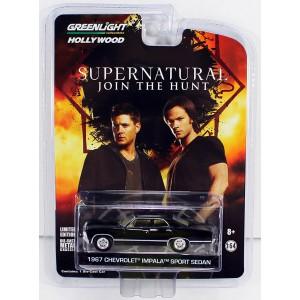 Réplique Chevrolet Impala Sport Sedan 1967 Supernatural 1/64 voiture en métal